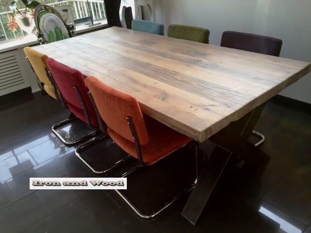Onbehandelde eiken tafel schoonmaken houten tafel kopen