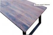 Industriele eettafel tafel oud eiken wagondelen schuine poten Memhis (3)