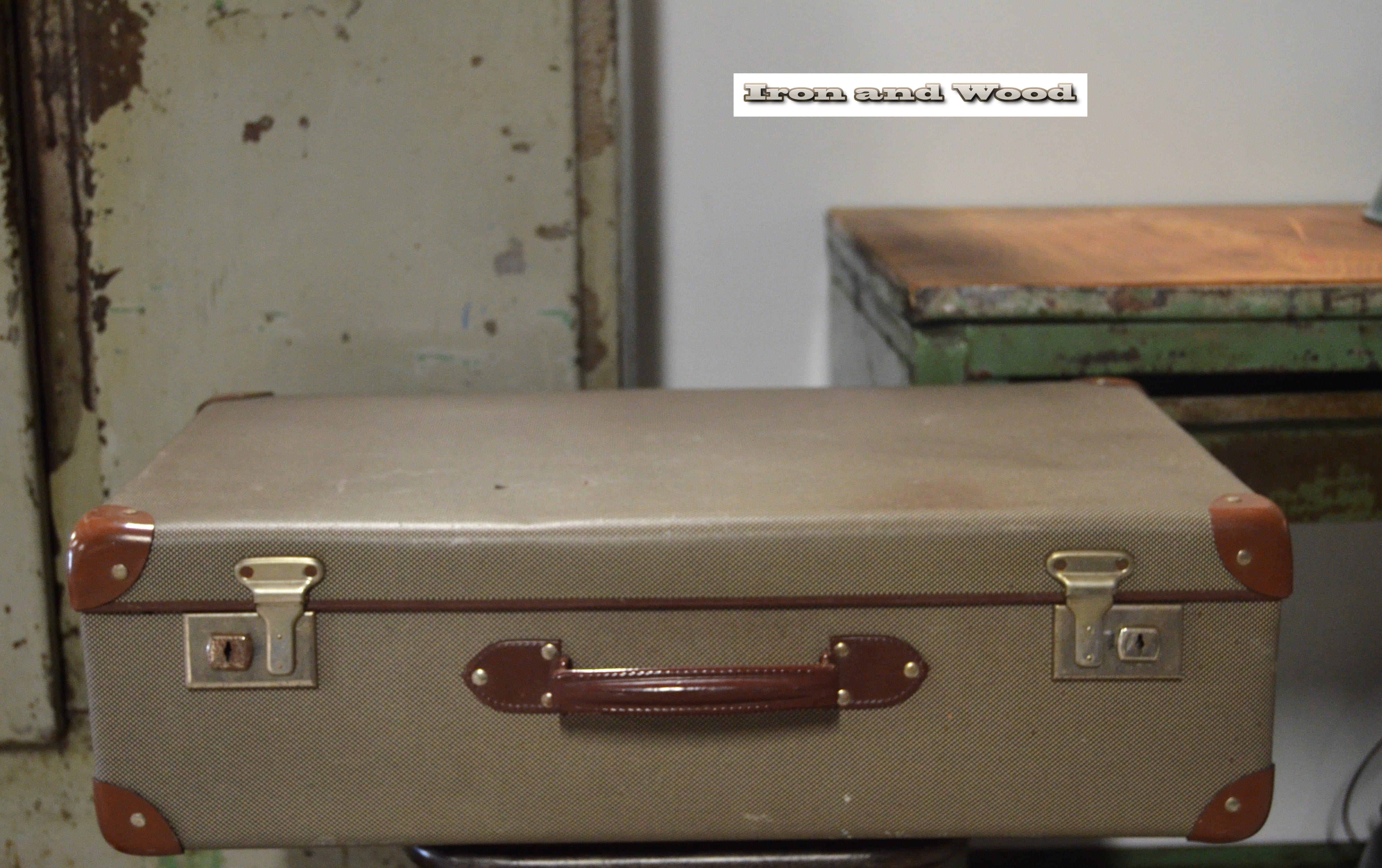 koffer grijs bruin gemeleerd 60x36x19 3