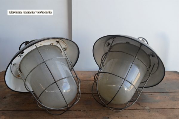 Zwarte emaille kooilampen H 40 D 38 3