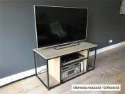 Industrieel tv meubels staal en hout Leipzig 6