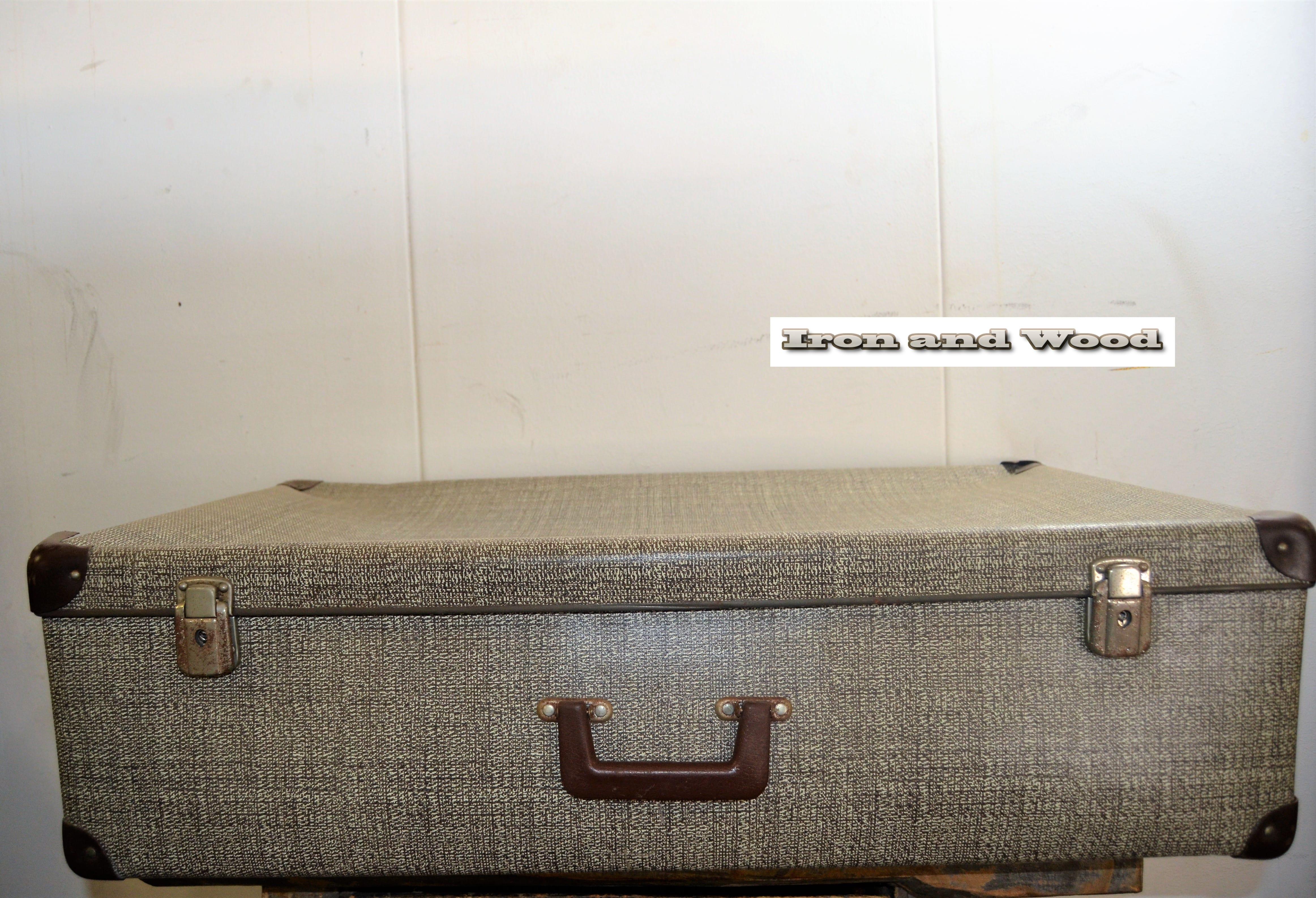 koffer beige grijs gemeleerd 75x43x21 5