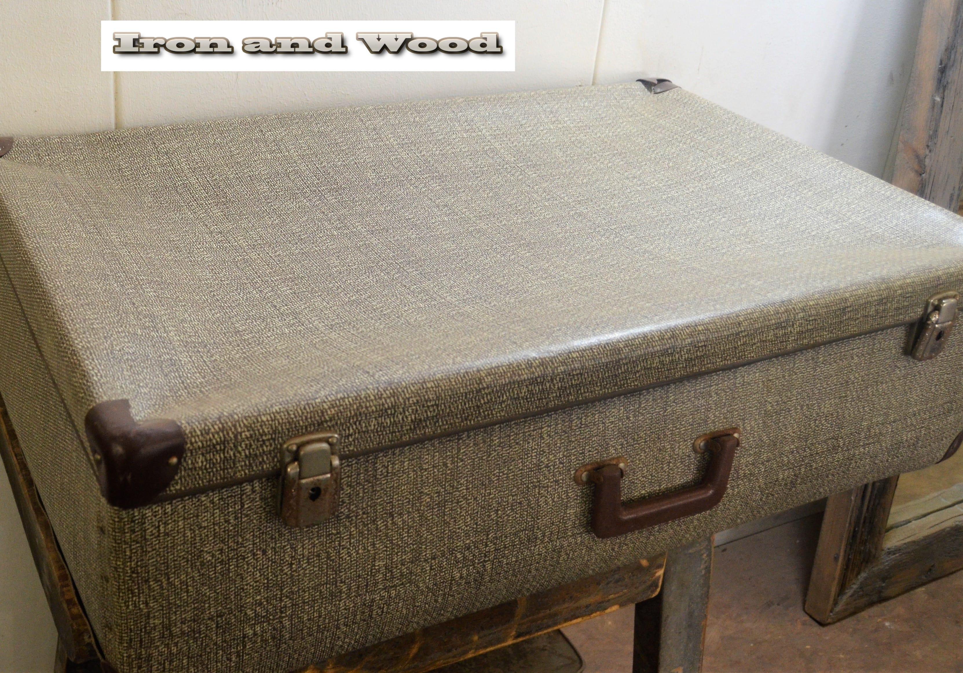 koffer grijs bruin gemeleerd 85x53x28 3