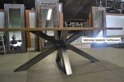 Gepolijste spinnenpoot tafel 10 cm oud eiken wagondelen 3