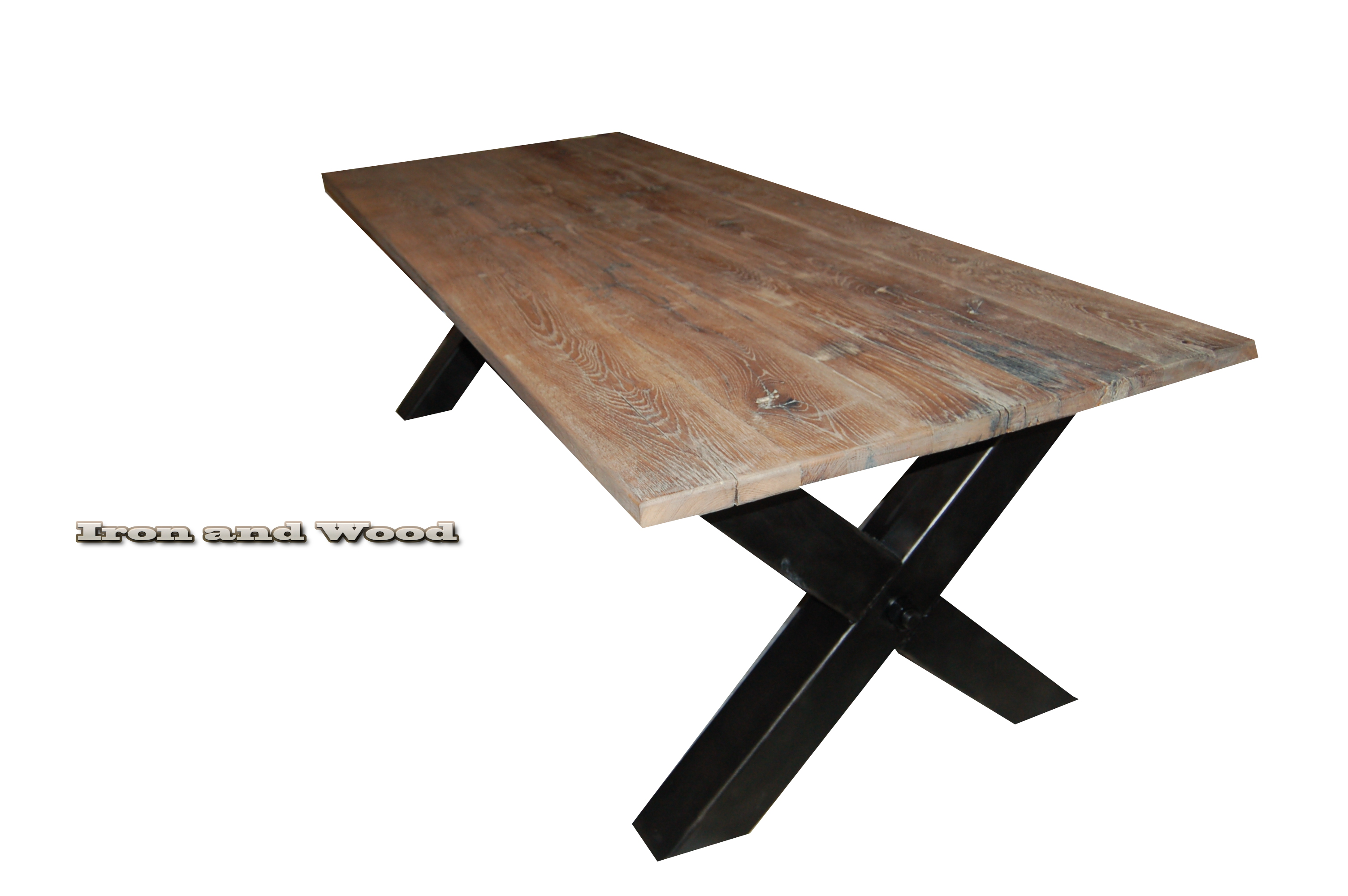 Tafel X Poot Staal.Robuuste Industriele Tafel Kansas