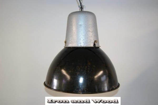 zwarte emaille lamp grijze bovenkant (1) d38 h35 k2
