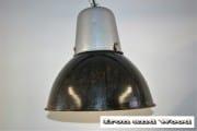 zwarte emaille lamp grijze bovenkant (2) d38 h35 k2
