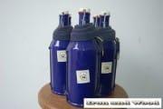 Blauwe emaille BK flessen (1)