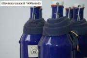 Blauwe emaille BK flessen (2)
