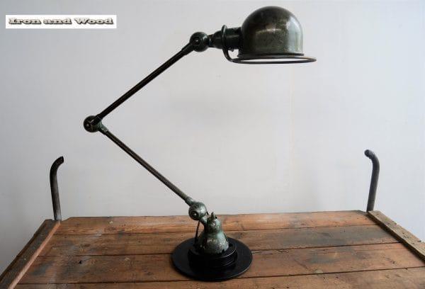 Groene Jielde lamp 2 arm H 70 11