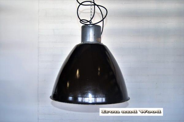 Grote zwarte Poolse lamp H50 D 50 3
