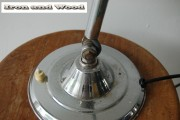 Zilverkleurig vintage schemerlampje (4) h43