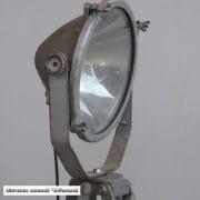 Zilverkleurige spot en statief D31 H170 vierkant 10