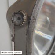 Zilverkleurige spot en statief D31 H170 vierkant 6