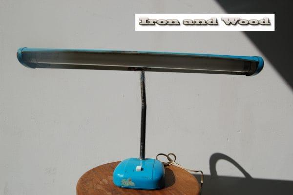 Blauwe bureaulamp  (1)