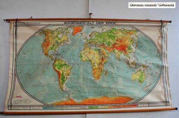 Oude Duitse wereldkaart H123 B220 1