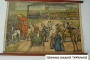 Schoolprent de eerste spoorweg in Belgie  (2)