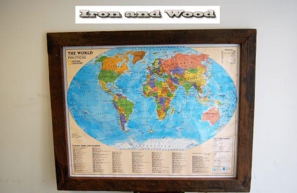 Wereldkaart the world political 144×117 lijst 10 1 – kopie