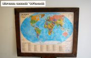 Wereldkaart the world political 144×117 lijst 10 2