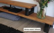 Industrieel tv meubel staal en hout 02