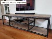 Industrieel tv meubels staal en hout Leipzig 2