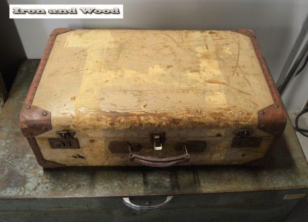 Oud brocante koffer 65x40x22 6