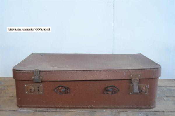 Koffer cognac zonder handvat 60x35x17 2