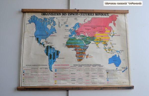 Wereldkaart Organisation espace 130 x 95 1