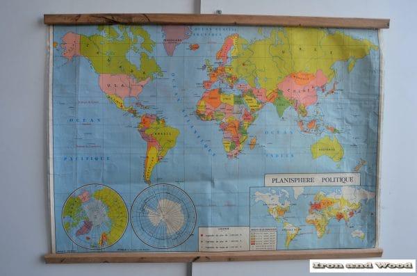 Wereldkaart planisphere politique 130 x 94 1 (3)