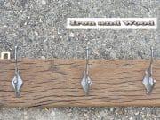 c eiken kapstok 5 zilveren haken 73 x 11 1