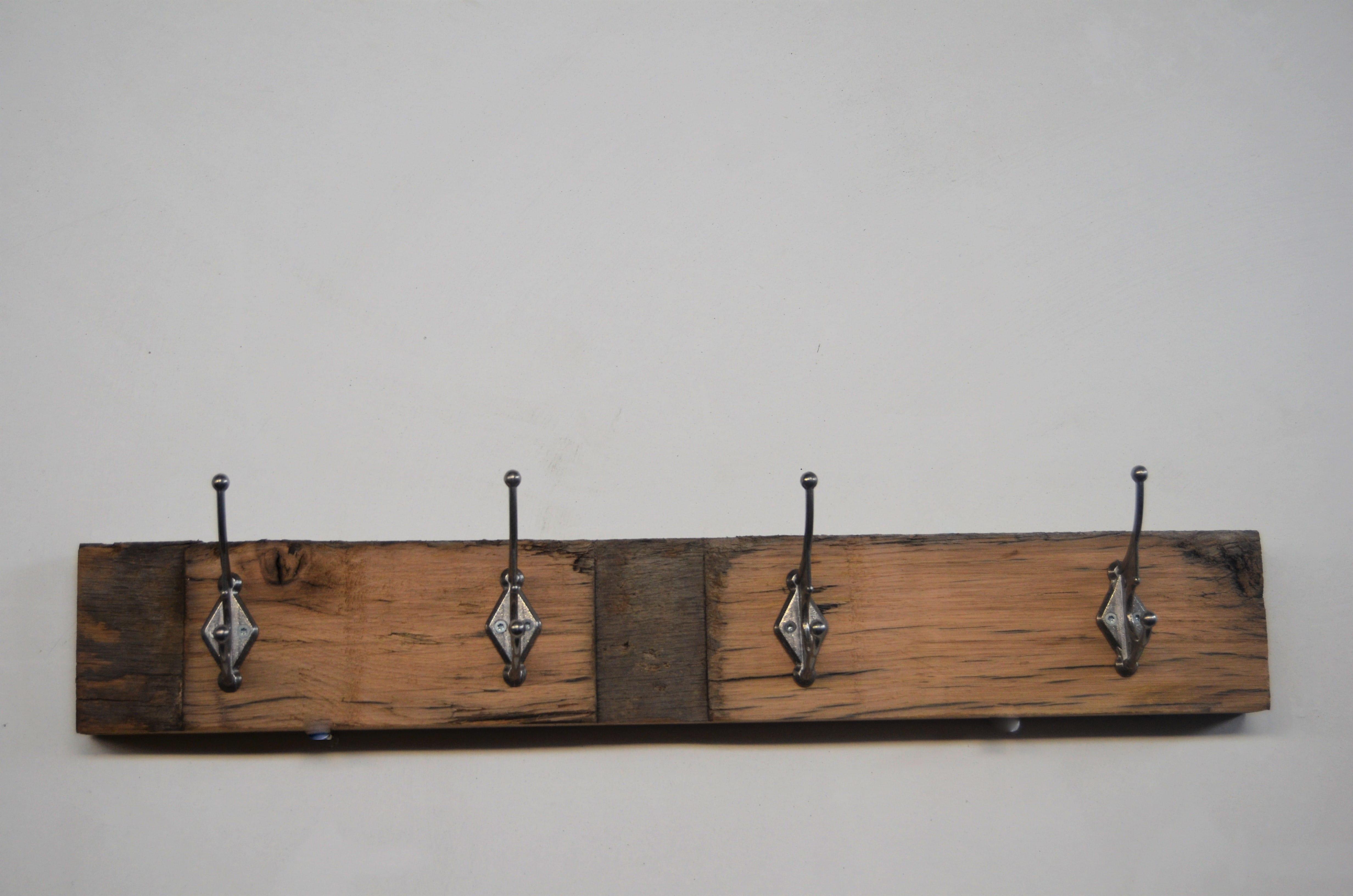 Eiken Kapstok Van Wagonplanken Wagondelen Sloophout Met Metalen