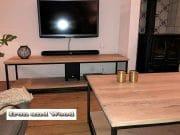 Industriele salontafel met onderblad en tv meubel 1