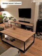 Industriele salontafel met onderblad en tv meubel 3