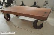 Salontafel van oude merantie balken 110x58x31 3