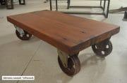 Salontafel van oude merantie balken 110x58x31 8