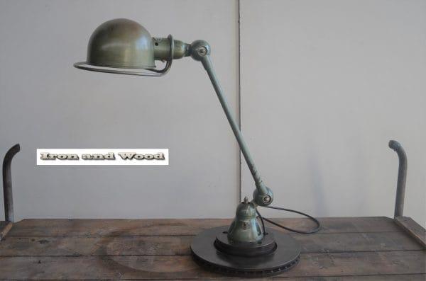 Oude groene Jielde lamp 1 arm H56 1