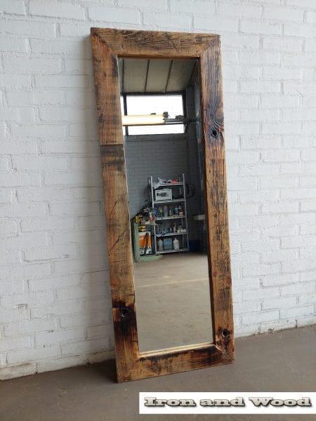 13 grenen spiegel blanke lak 147×55 l10 1
