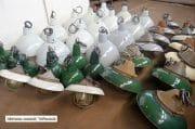 Overzicht grijze en groene emaille lampen 2