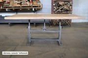 Industriele tafel oud gepolijst onderstel en eiken blad 180 x 85 x 79 5
