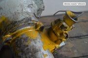 Gele industriele spot H32 D spot 28 D voet 35 11