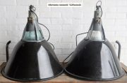 Industriele zwarte emaille lampen D57 H60 2