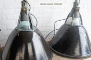 Industriele zwarte emaille lampen D57 H60 5