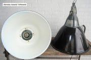 Industriele zwarte emaille lampen D57 H60 9