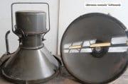 Oude industriele fabriekslamp antraciet H52 D48 10
