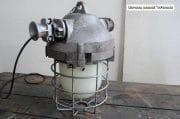 Industriele bully met melkglas stolp H40 D36 7