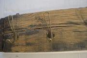 Kapstok 5 koperen haken 102 x 20,5 4