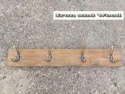 a eiken kapstok 4 koperen haken 73 x 11 1 (Small)