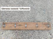 b eiken kapstok 5 zilveren haken 73 x 11 1 (1)