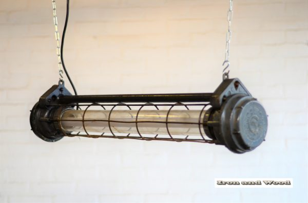 Donkergrijze korte TL tube 90 cm 3