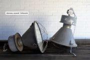 Grijze industriele fabriekslampen H72 D48 13